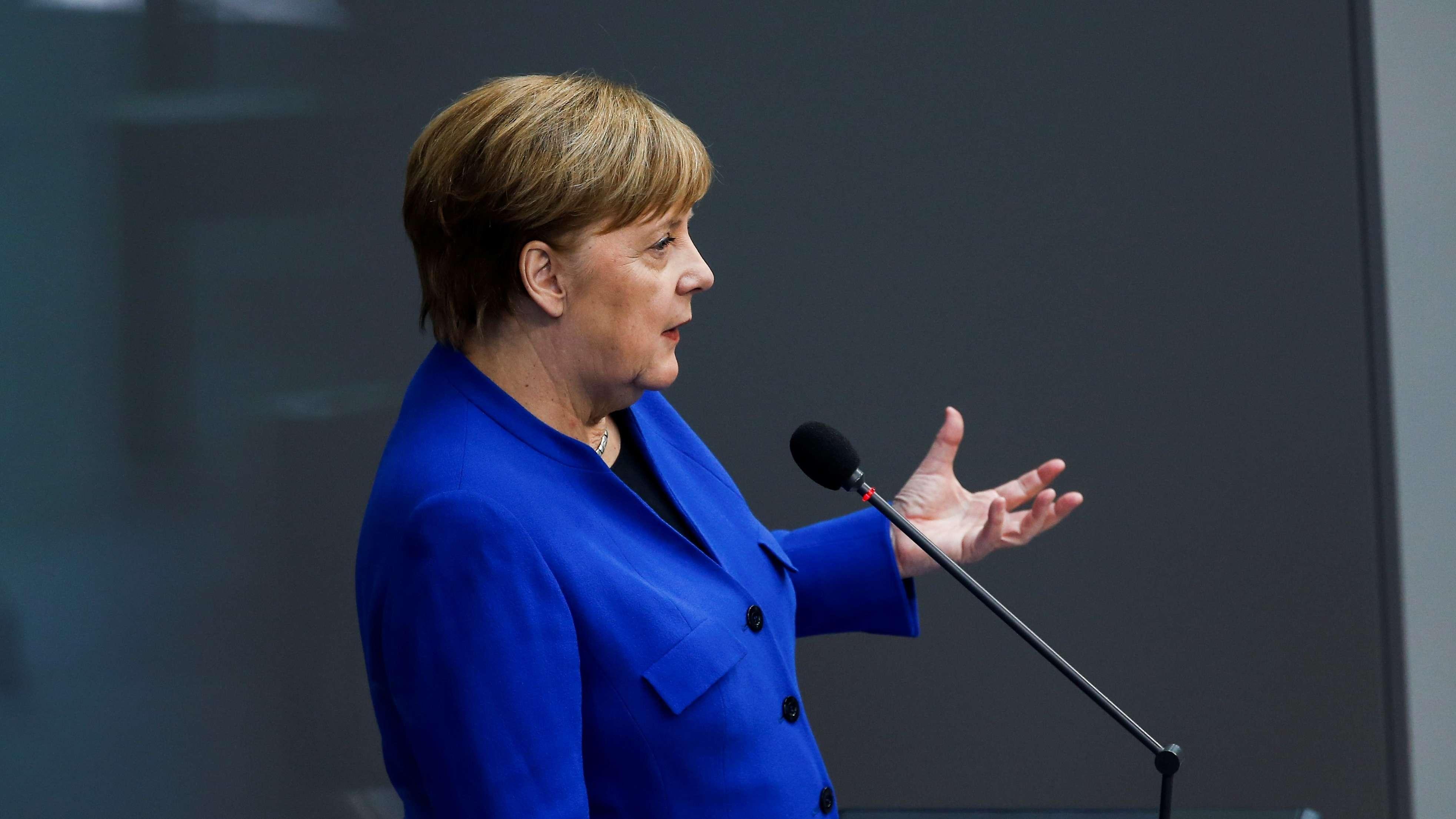 Angela Merkel bei Regierungsbefragung am 10. April 2019