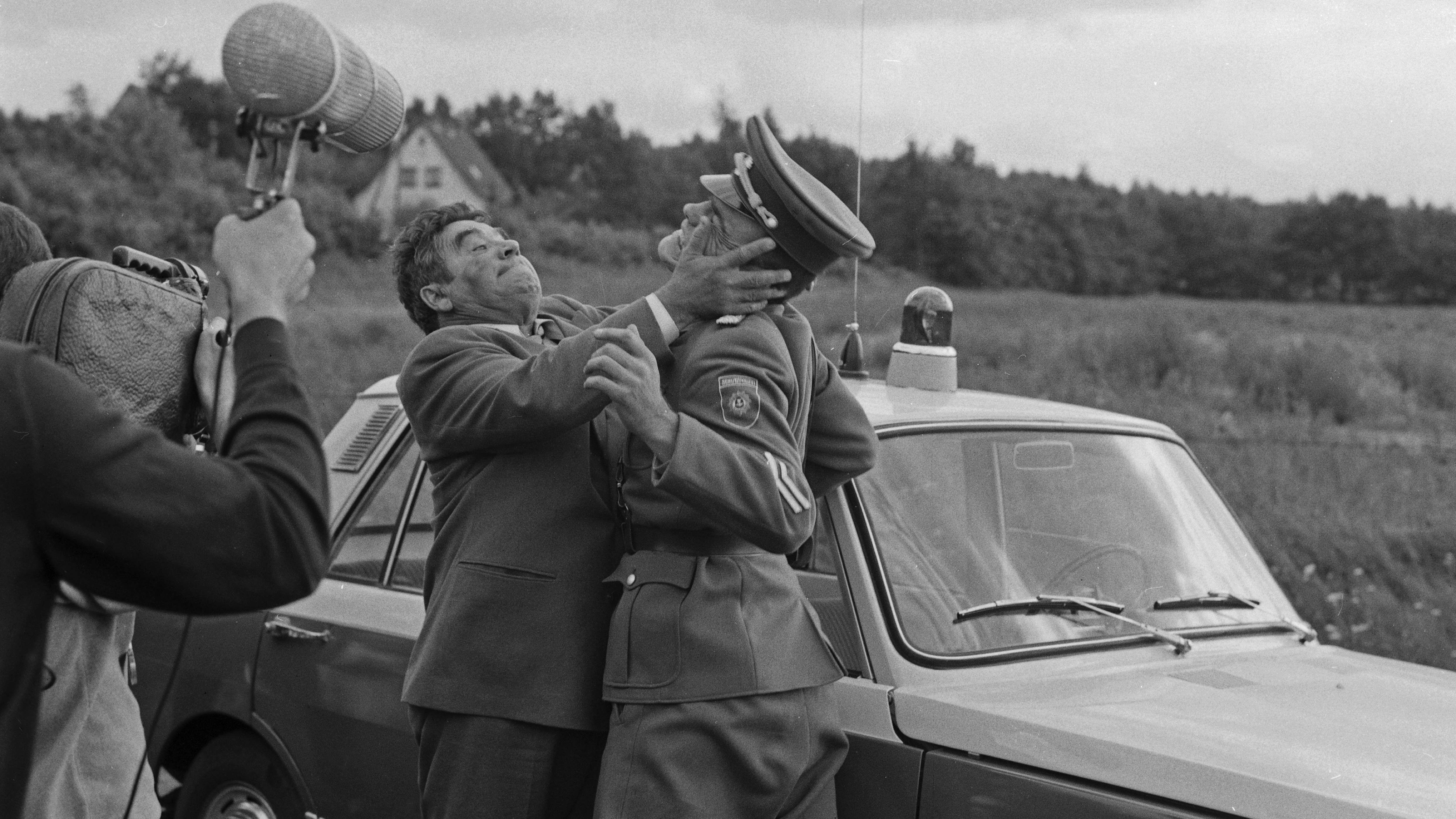 "Dreharbeiten zu ""Taxi nach Leipzig"" 1970"