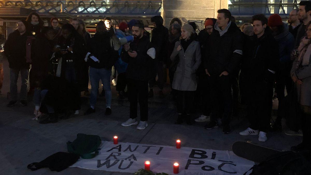 Solidaritätskundgebung in Würzburg