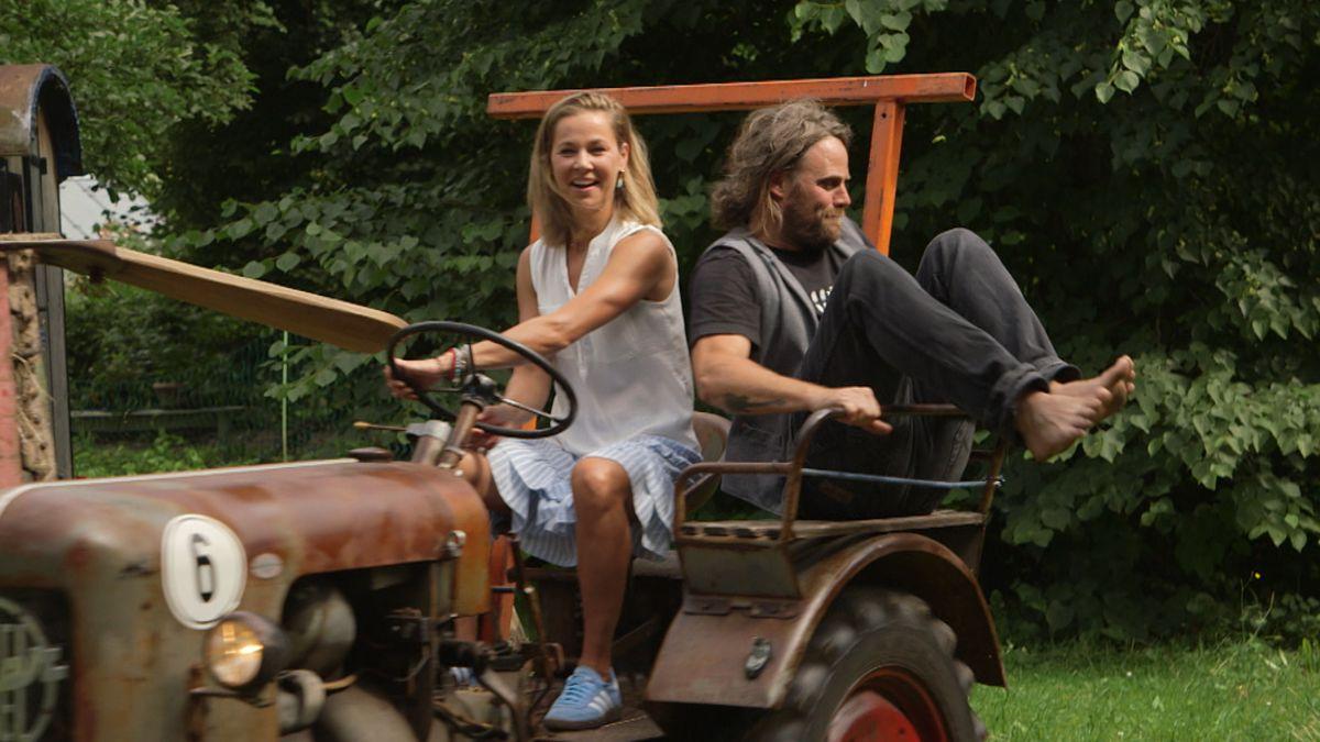 Sportlerin Steffi Böhler und Musiker Keller Steff