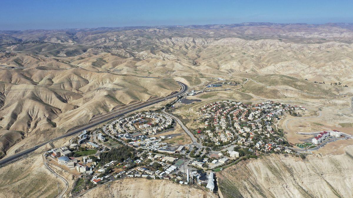 Palästinensische Autonomiegebiete, Mitzpe Yeriho: Übersicht auf die jüdische Siedlung Mitzpe Yeriho im Westjordanland.