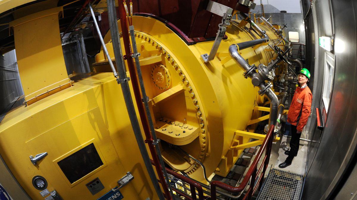 Generator im Block 4 des Gaskraftwerks im Vohburger Ortsteil Irsching.