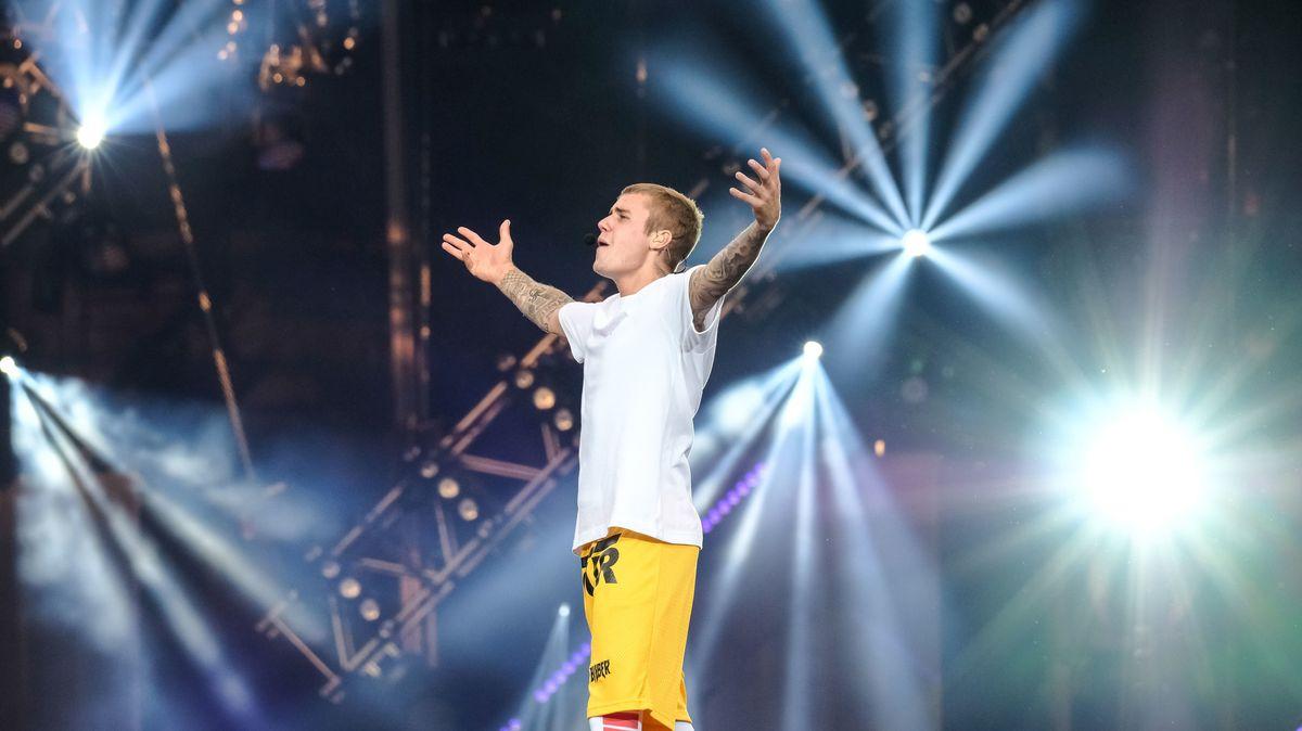 Justin Bieber beim Konzert