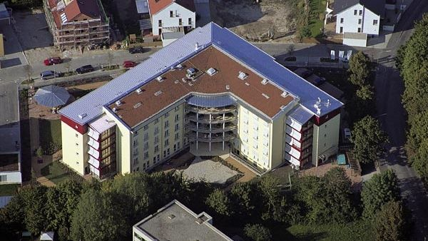 Der Senioren-Wohnpark Landshut von oben