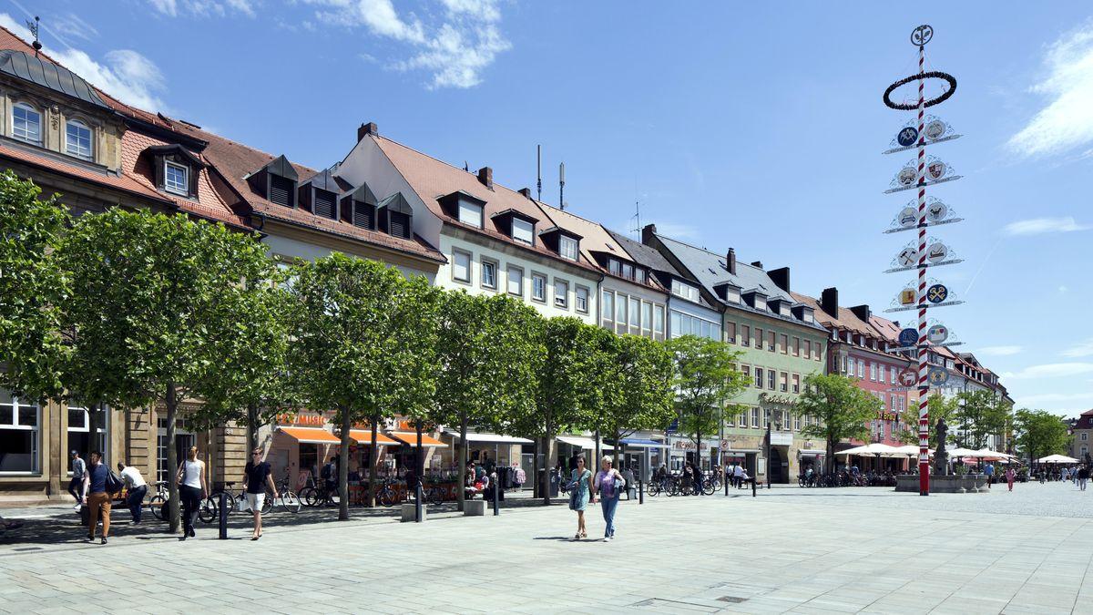 Der Marktplatz in Bayreuth