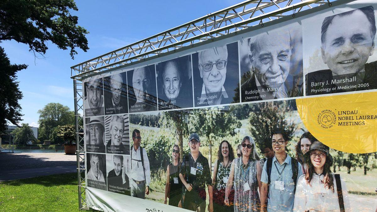 Plakat zum Nobelpreisträgertreffen in Lindau
