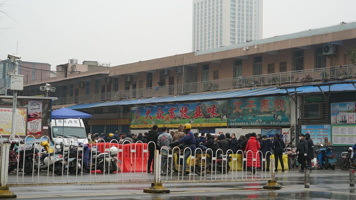 Die Frage nach den Anfängen der Corona-Pandemie führt unter anderem zum traditionellen Huanan Wholesale Seafood Market im chinesischen Wuhan.