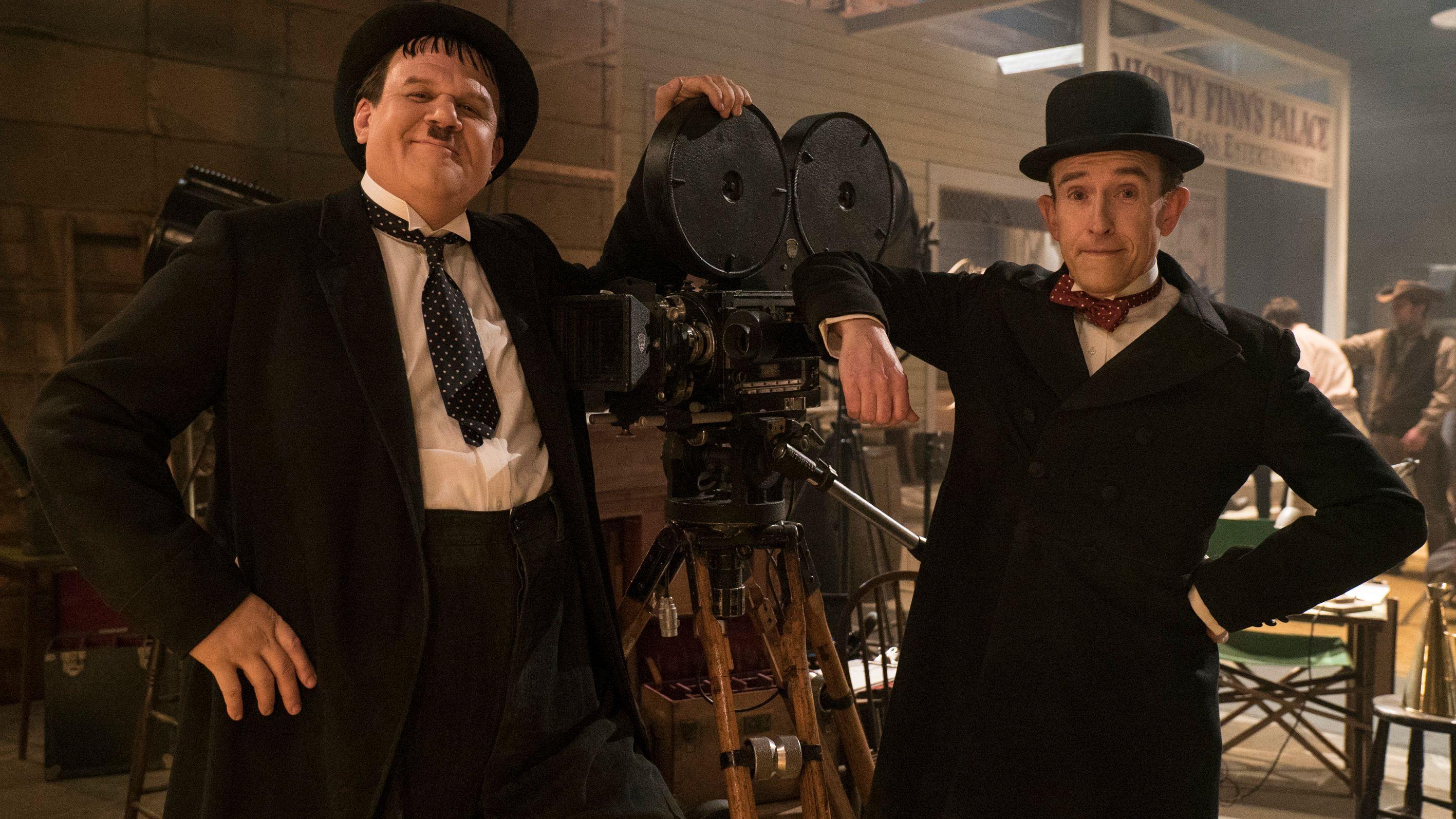"""John C. Reilly und Steve Coogan als """"Dick & Doof"""" (""""Stan & Ollie""""-Filmszene)"""