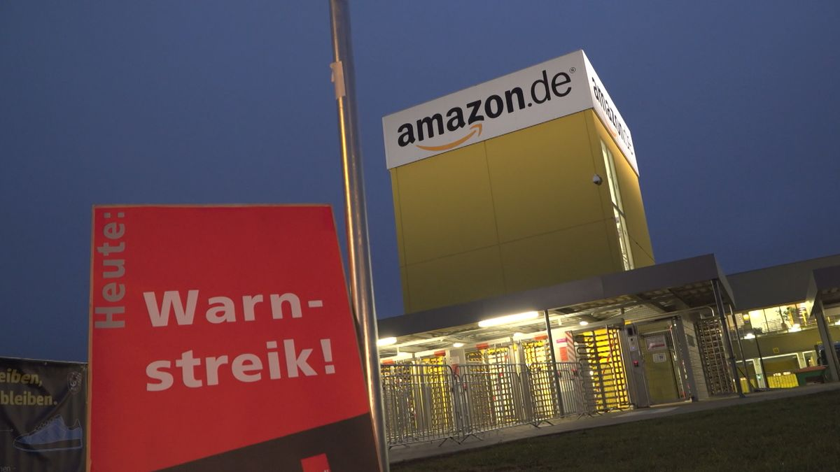 Symbolbild Streik bei Amazon in Graben