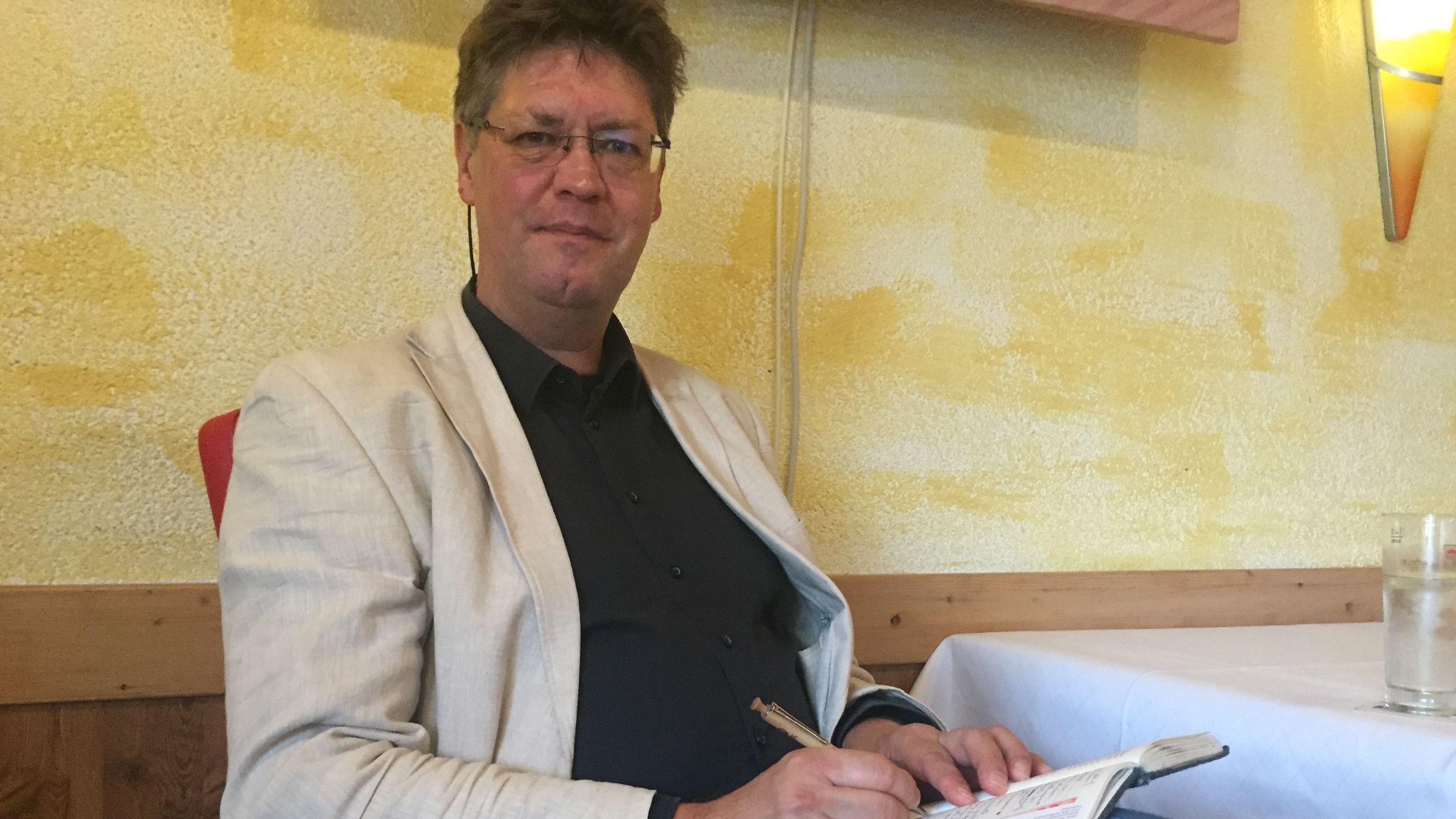 Der internationale Atom-Experte Jan Haverkamp in Marktredwitz