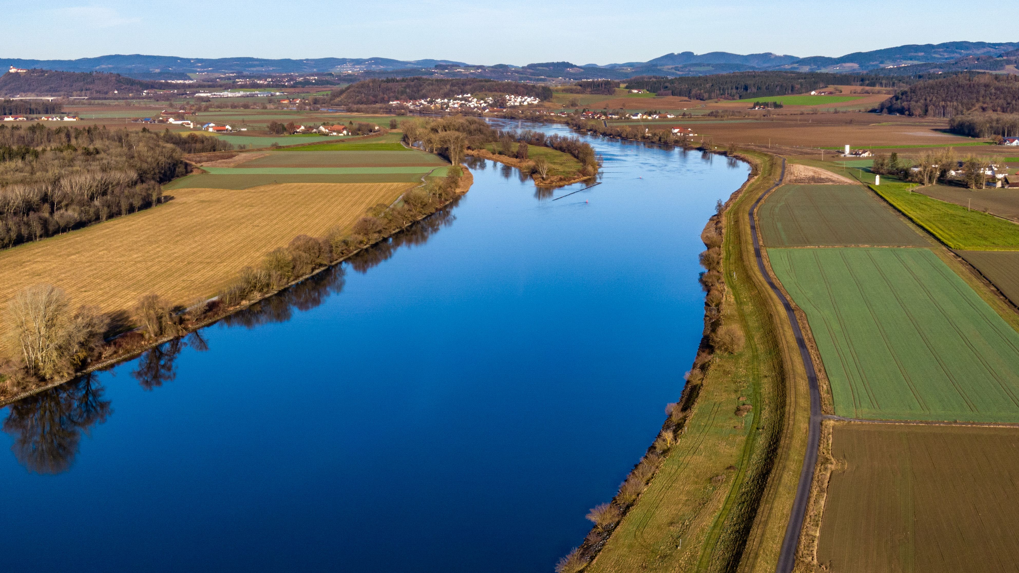 Die Donau am Rande des Bayerischen Waldes.