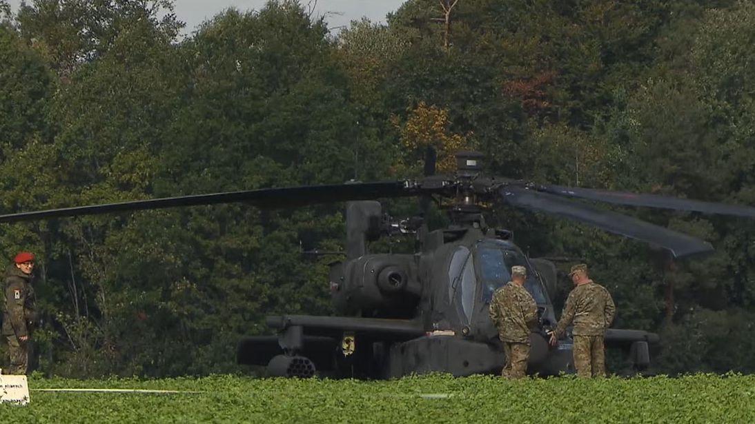 US-Kampfhubschrauber kappt Stromleitungen im Landkreis Ansbach und muss notlanden