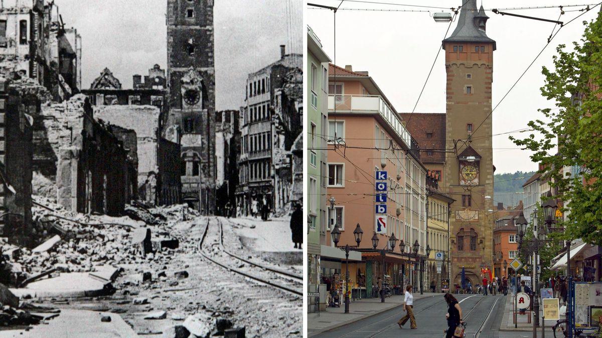 Würzburg damals und heute
