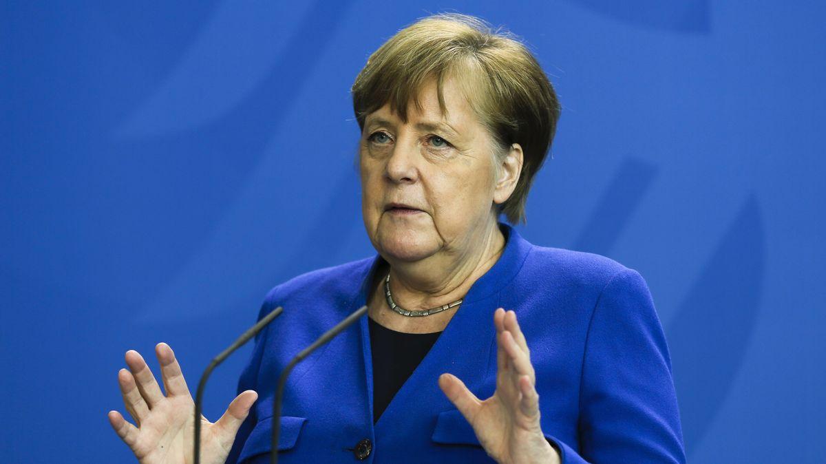Bundeskanzlerin Angela Merkel (CDU) am 20. April 2020 bei der PK im Bundeskanzleramt zu Corona-Maßnahmen.