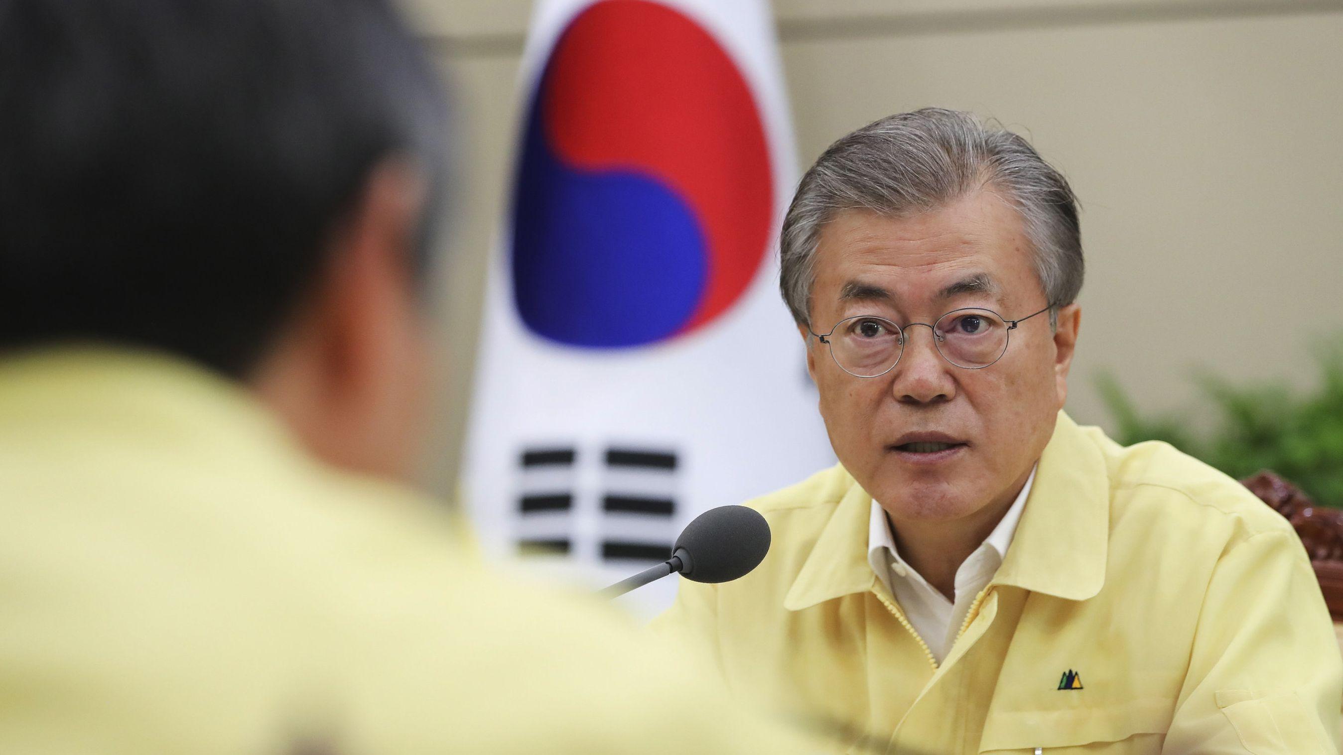 Südkoreas Präsident Moon Jae In verspricht schnelle Hilfe
