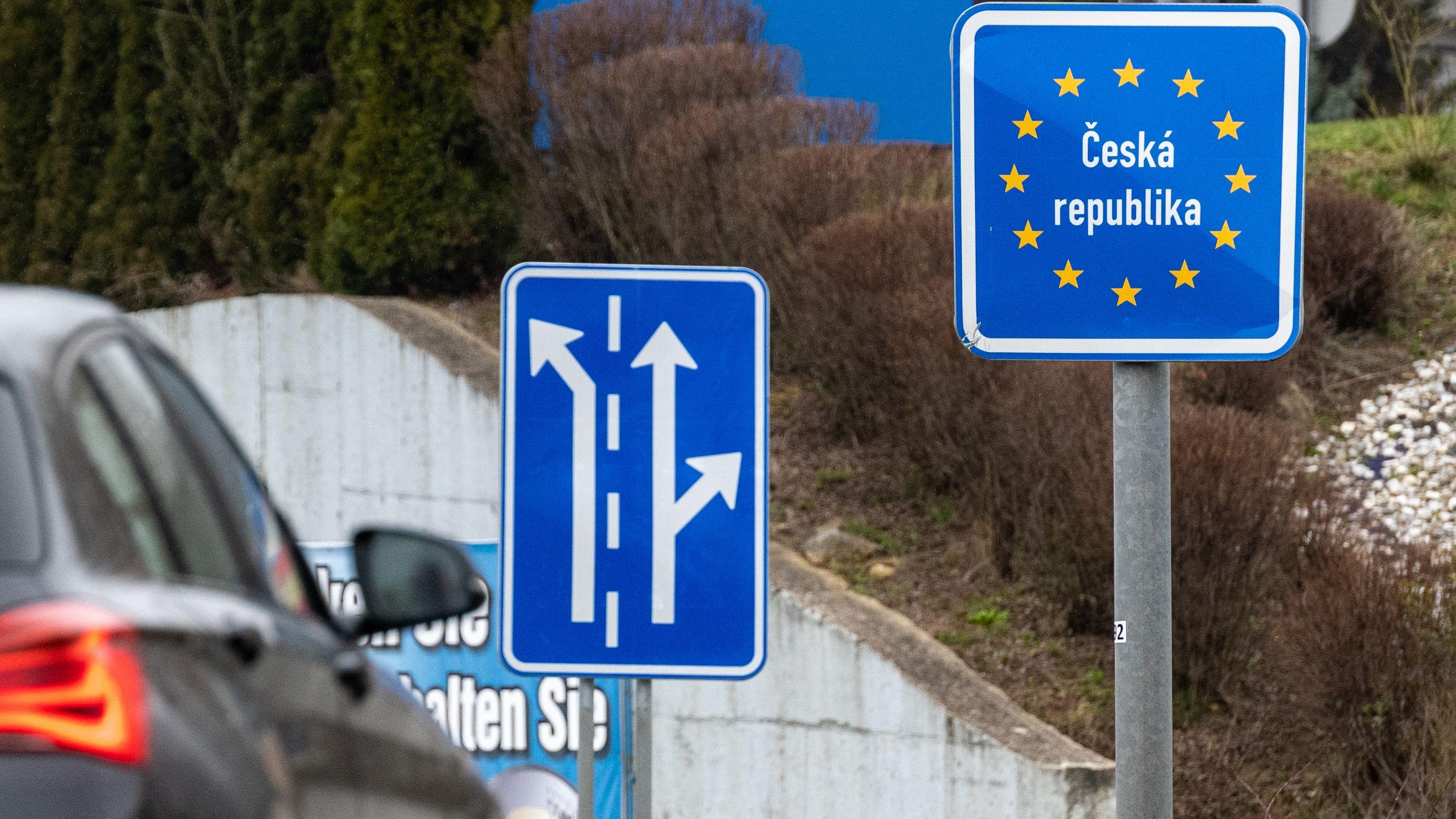 Schild an der Grenze Furth im Wald