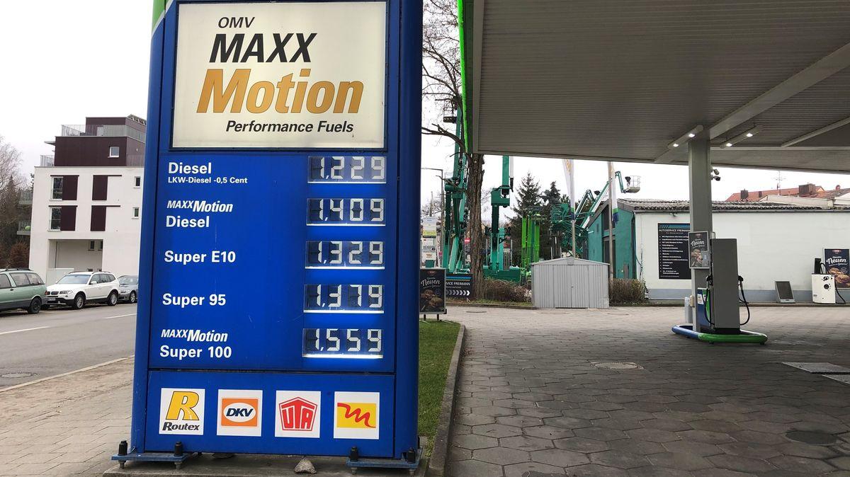Tankstelle in München/Freimann am 02.01.2021