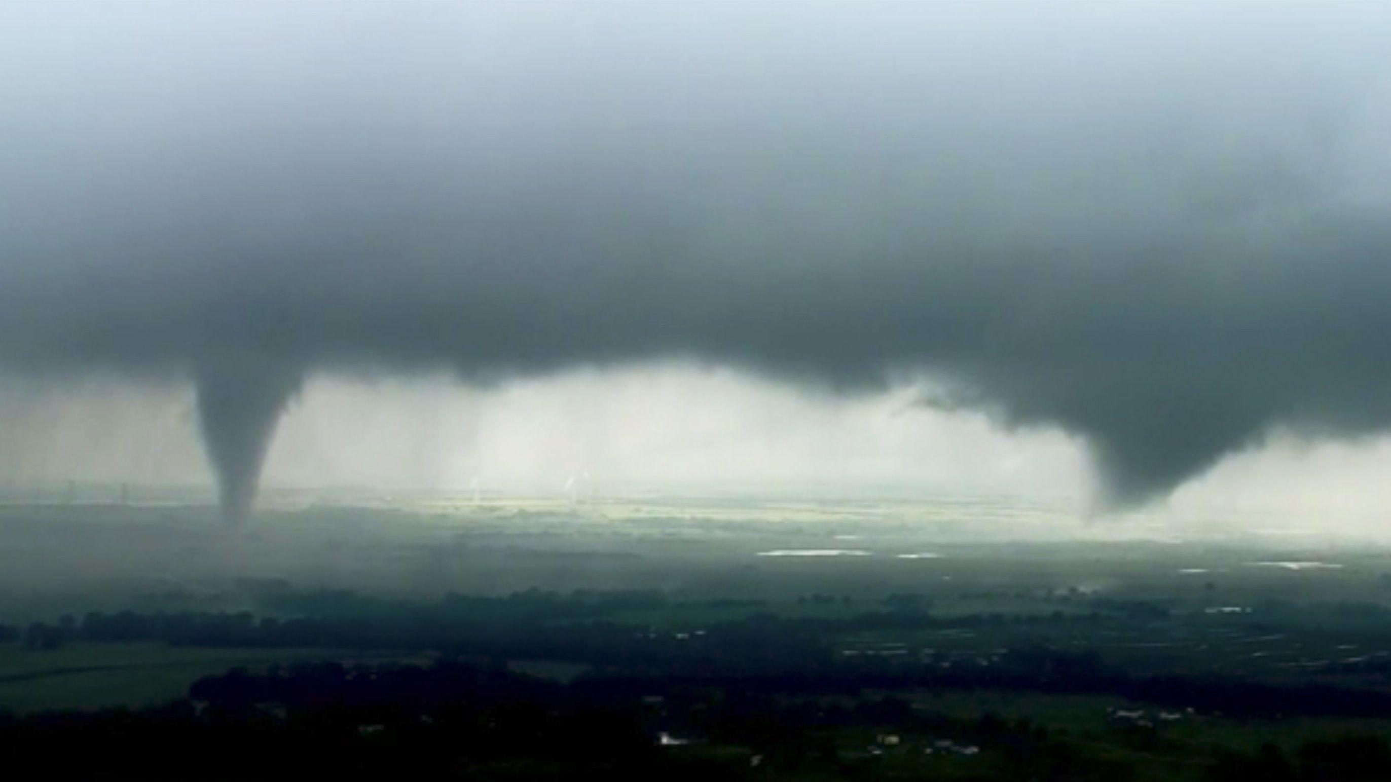 Sturmsystem mit Tornado (Symbolbild)
