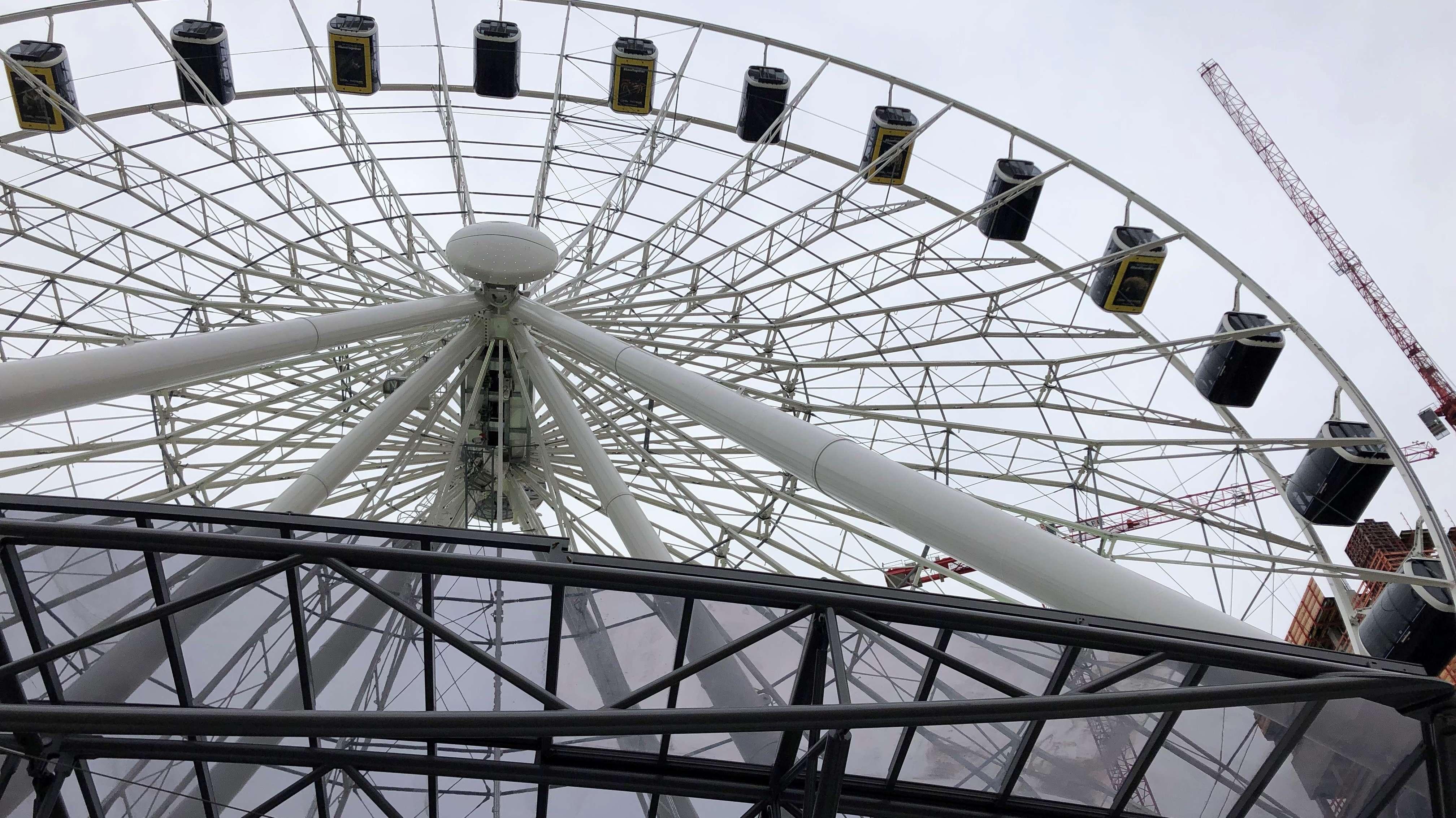 Das Riesenrad von unten