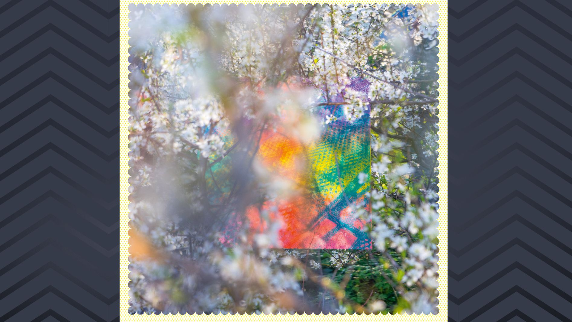 "Abstraktes Bild, Cover Four Tet, ""Sixteen Oceans"""