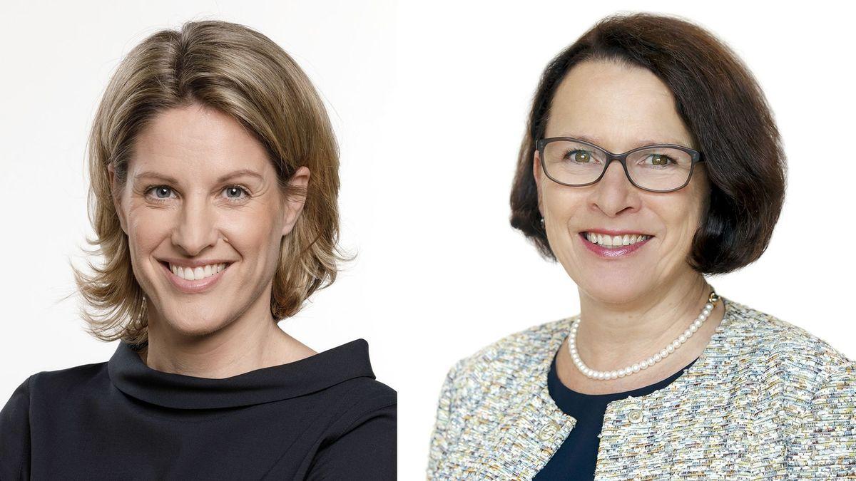Astrid Freudenstein (CSU) (li.) und Gertrud Maltz-Schwarzfischer (SPD)