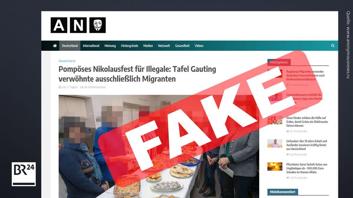 Screenshot der Seite anonymousnews