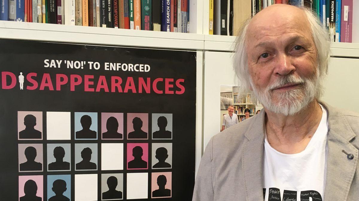 Rainer Huhle vom Nürnberger Menschenrechtszentrum engagiert sich gegen das Verschwindenlassen