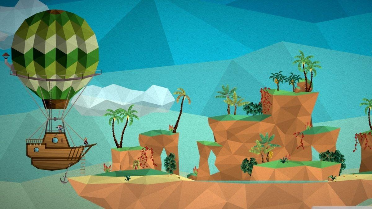 In einem Computerspiel steuert der Nutzer ein Luftschiff.