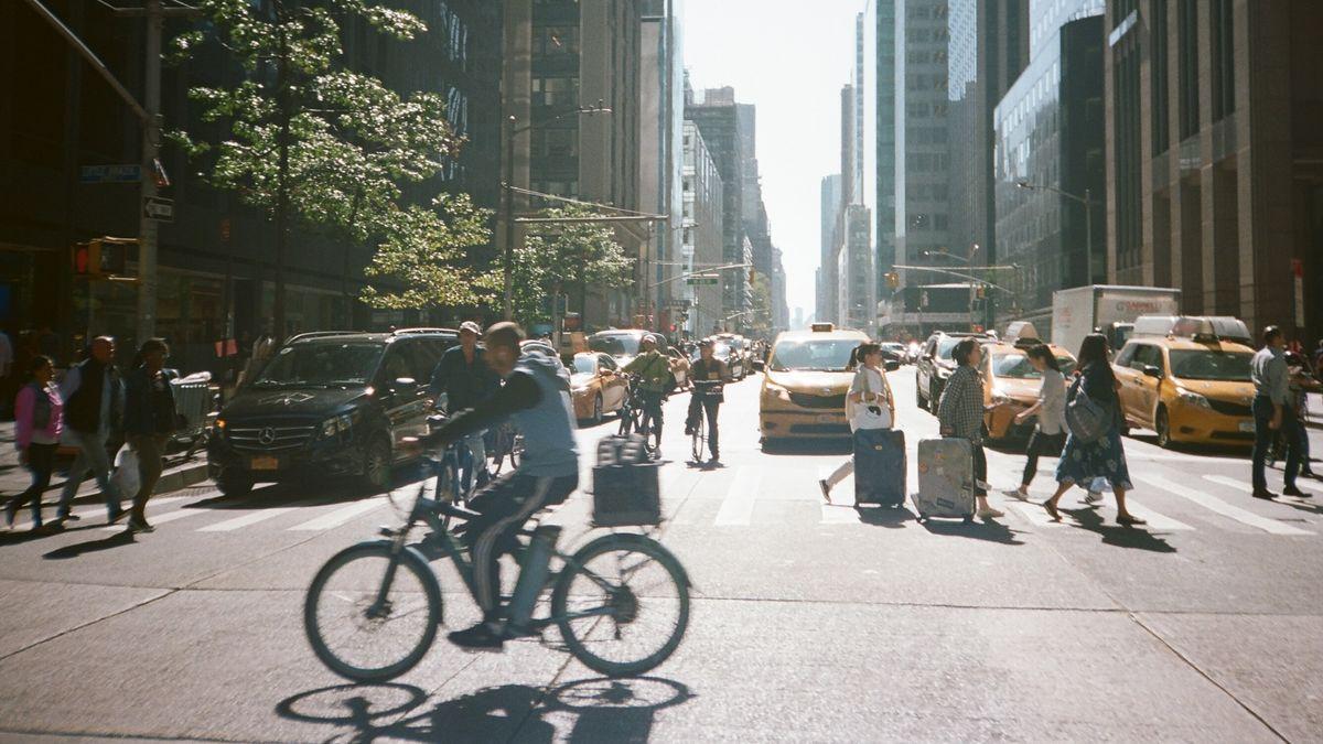 Die New Yorker satteln aufs Rad um.