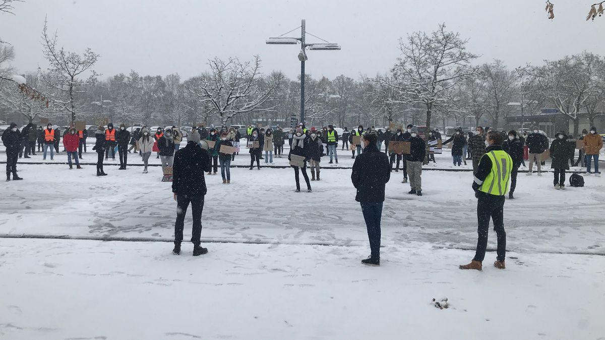 Schülerprotest in Augsburg