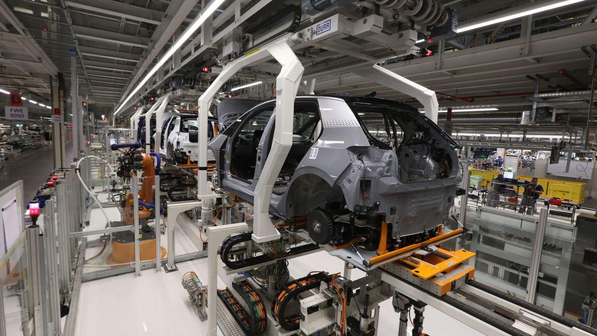 Produktion des VW ID3 - dem ersten reinen Elektrofahrzeug des Konzerns aus Zwickau