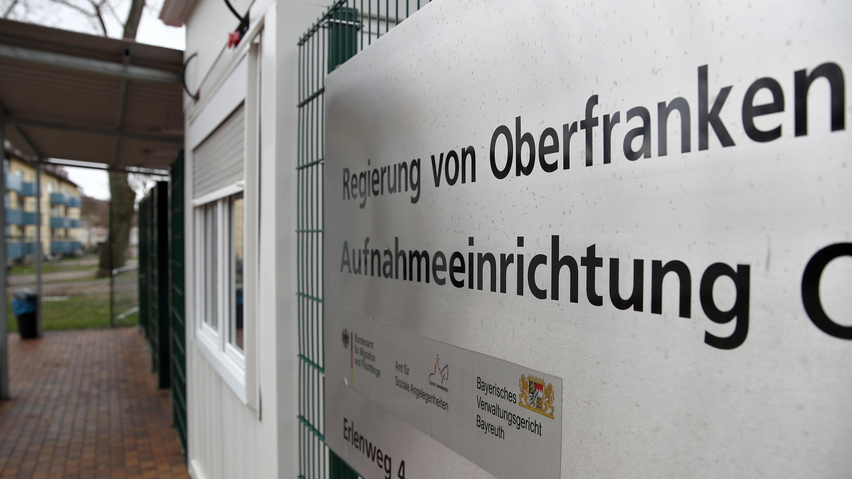 Bamberg: Der Eingangsbereich für Fußgänger am Gelände des Ankerzentrums