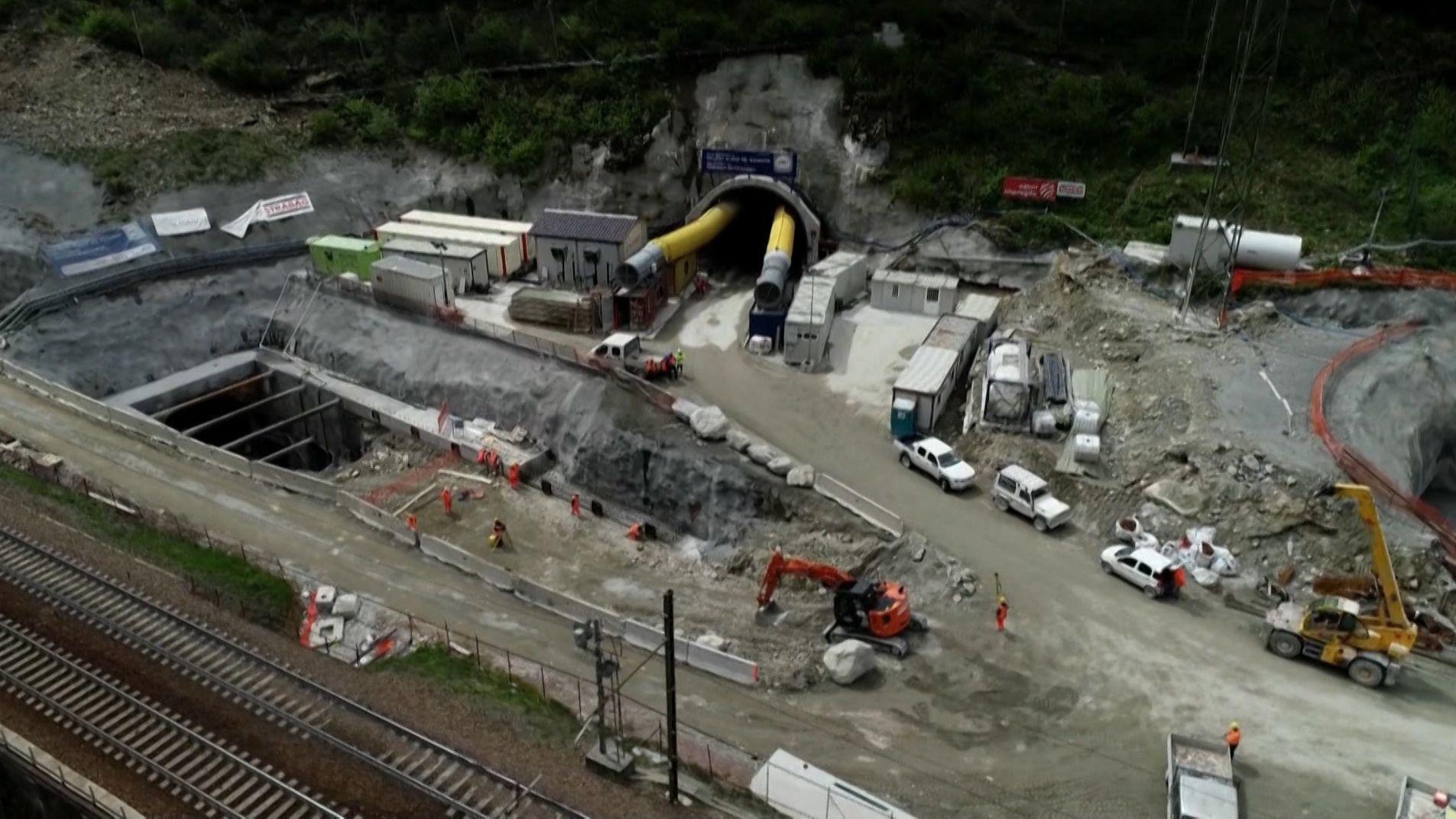Bauarbeiten am Brenner-Basistunnel