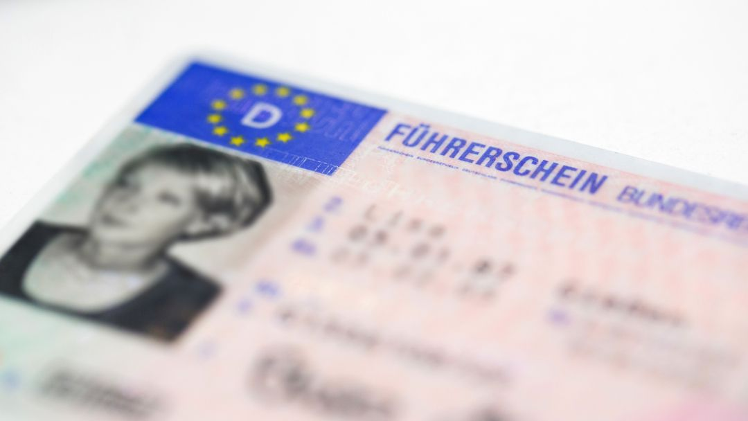 Ein deutscher Führerschein.