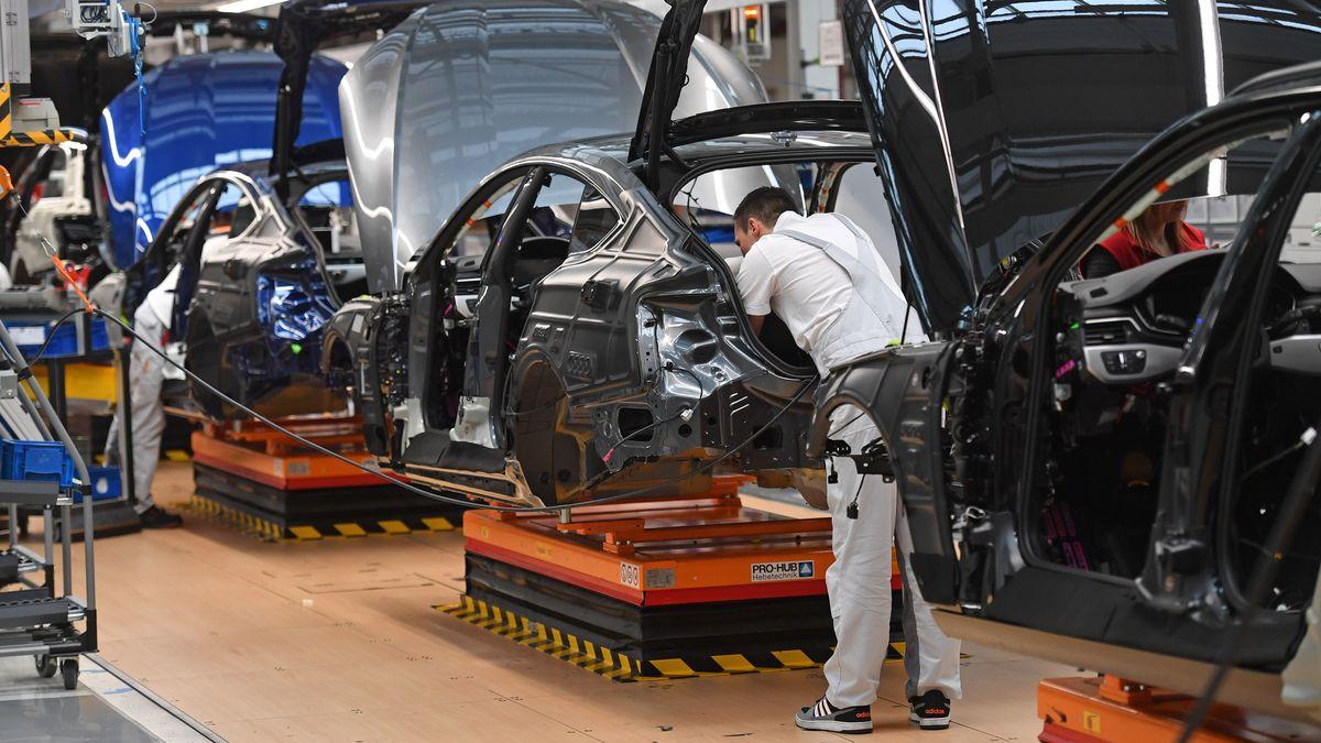 Produktion bei Audi in Ingolstadt, Archivbild vom März 2020.