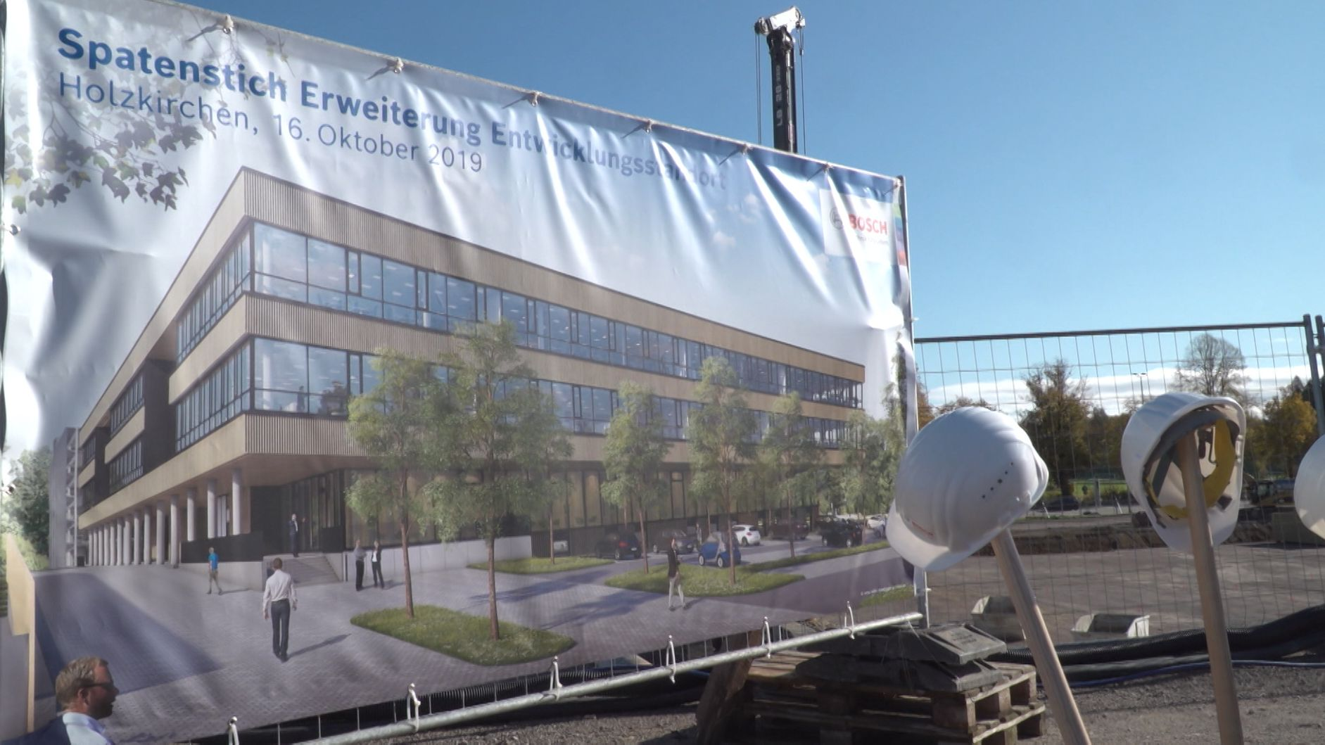 Spatenstich in Holzkirchen: Bosch erweitert seinen Standort