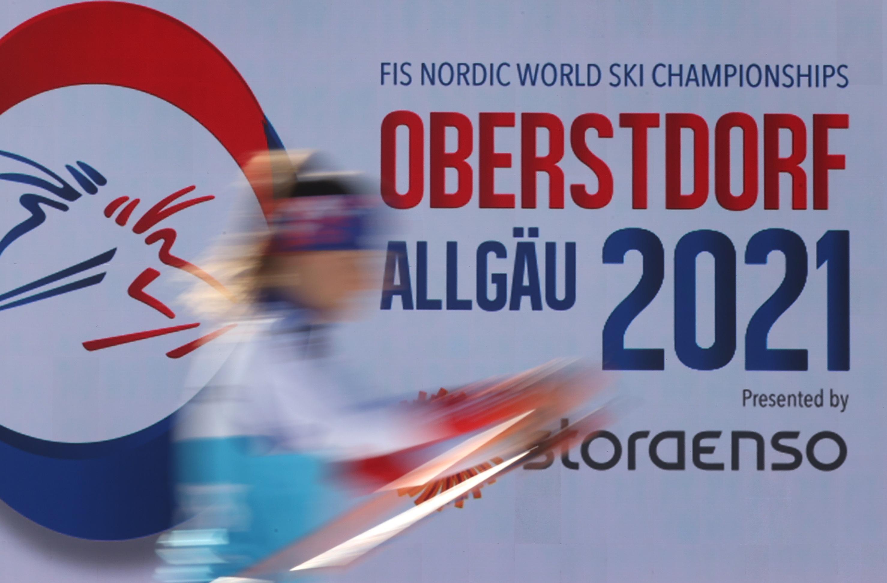 Plakat Nordische Ski-WM 2021 in Oberstdorf