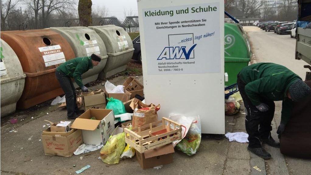 Upcycling alter Kleidung: Wenn der Container zum Mülleimer wird