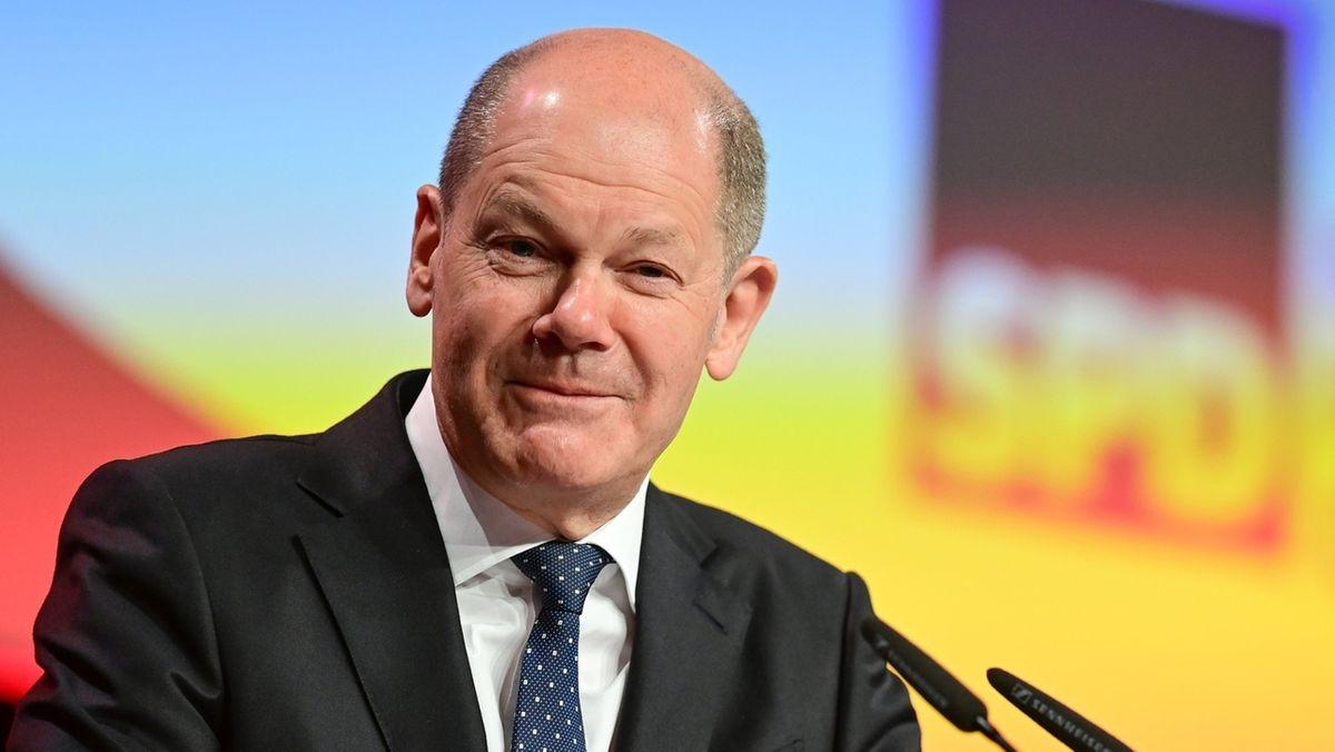 Olaf Scholz auf dem Landesparteitag der SPD Brandenburg