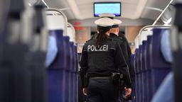 Bundespolizisten in einem ICE | Bild:dpa-Bildfunk/Martin Schutt