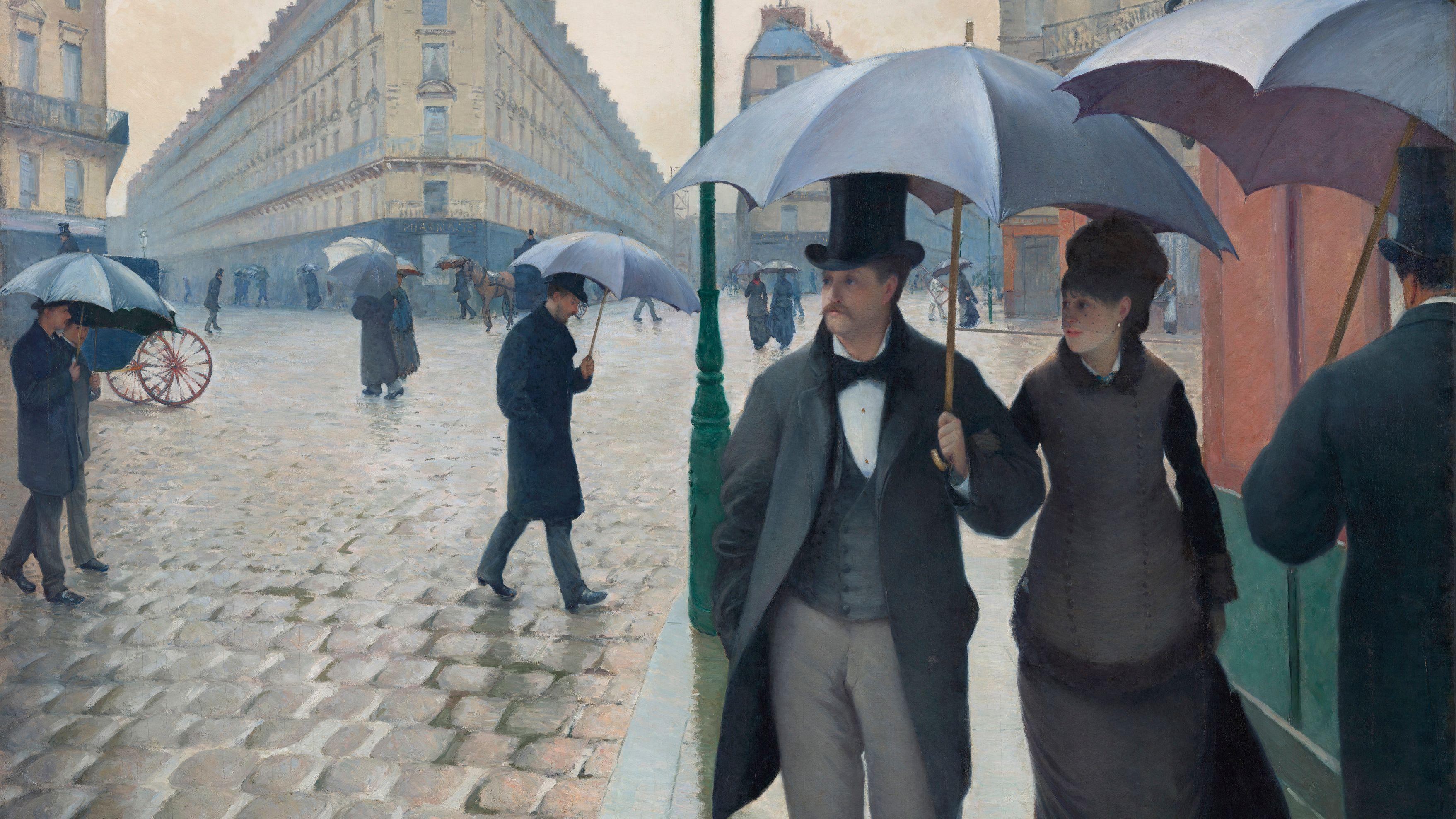 Gustave Caillebotte: Straße in Paris, Regenwetter
