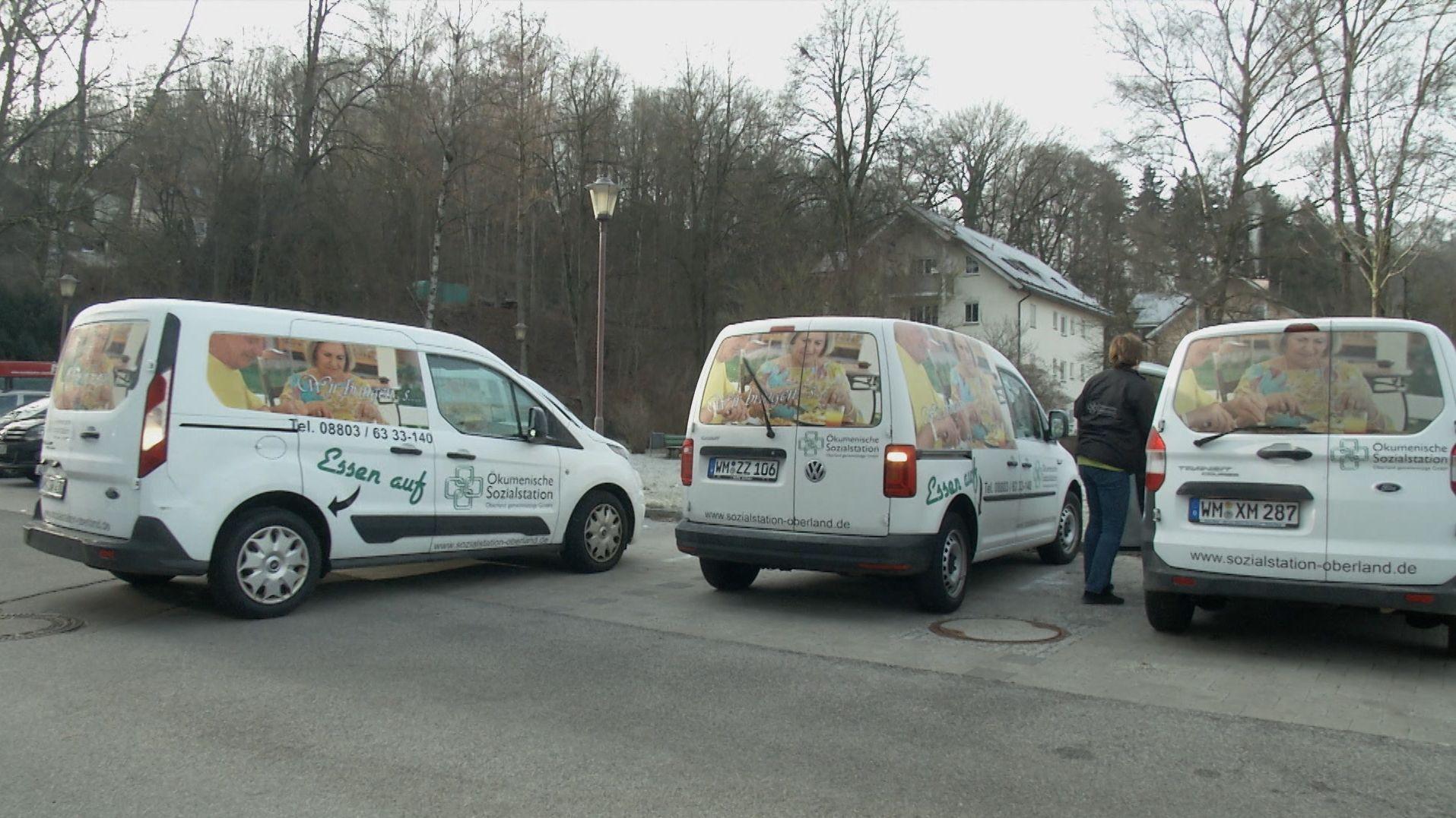 """Seit etwa einem halben Jahr werden Autos von """"Essen auf Rädern"""" der """"Ökumenischen Sozialstation Oberland"""" in Peißenberg sabotiert, indem Reifen beschädigt werden. Die Polizei ermittelt..."""