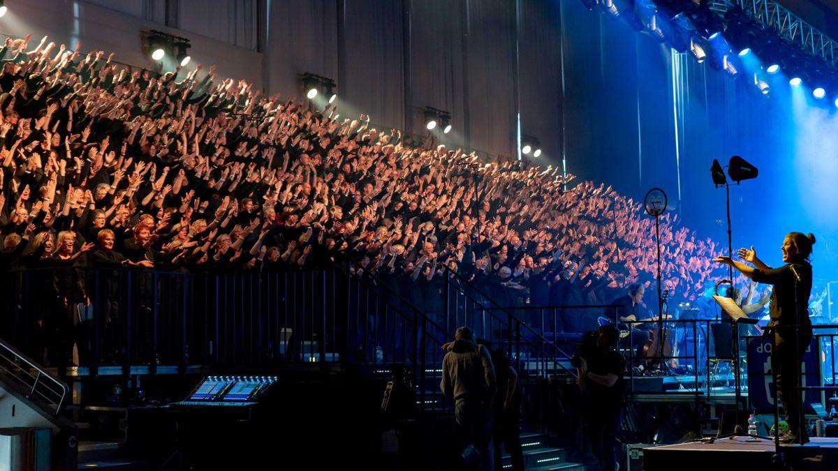"""Proben zum Chor-Musical """"Martin Luther King"""" 2019 in Essen."""