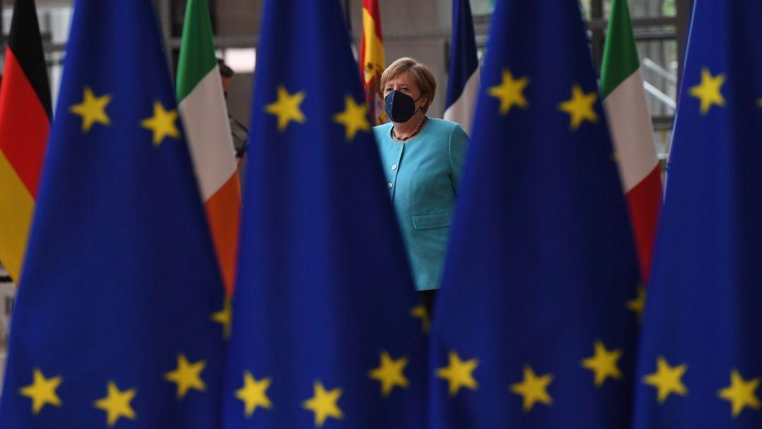 Angela Merkel, Bundeskanzlerin von Deutschland, kommt zum Gipfel der EU-Staats- und Regierungschefs.
