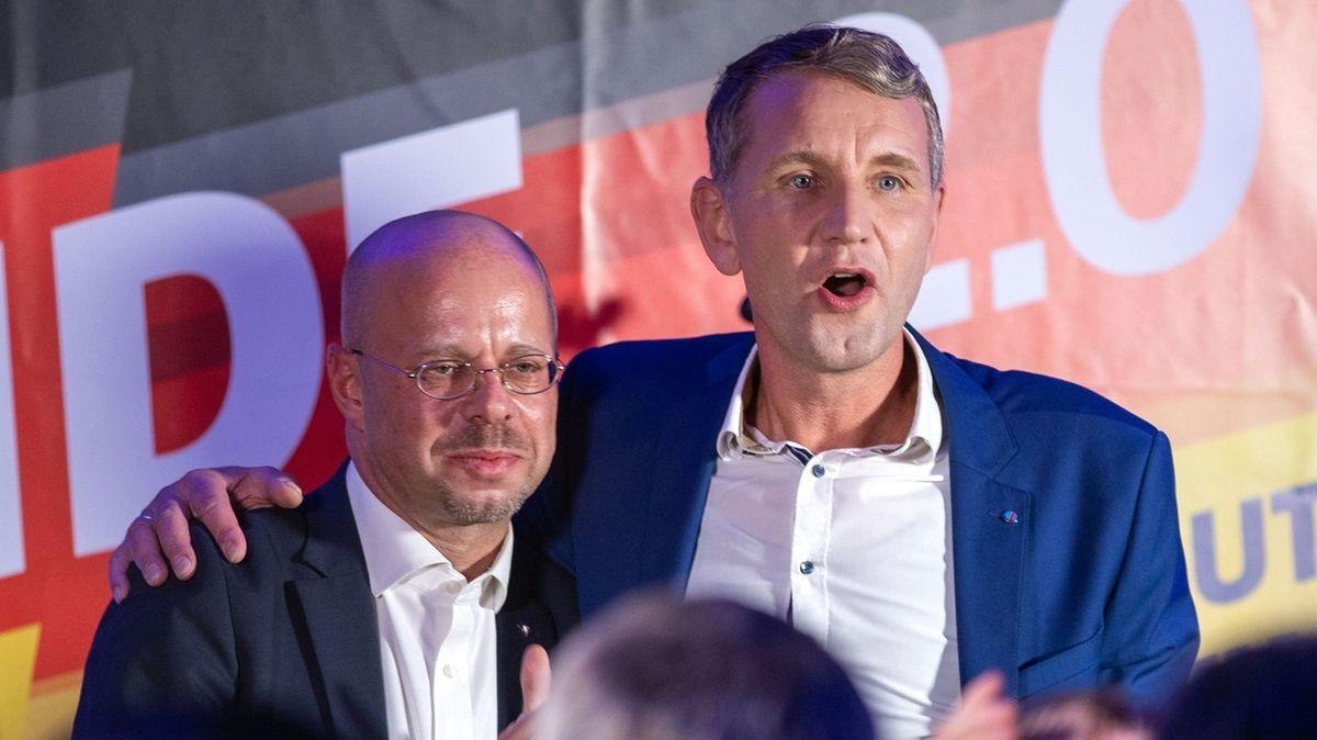 Wahlparty der AfD in Erfurt im Oktober 2019