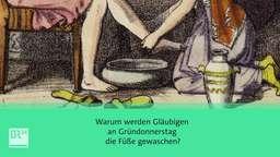 Symbolbild der Fußwaschung am Gründonnerstag | Bild:BR24