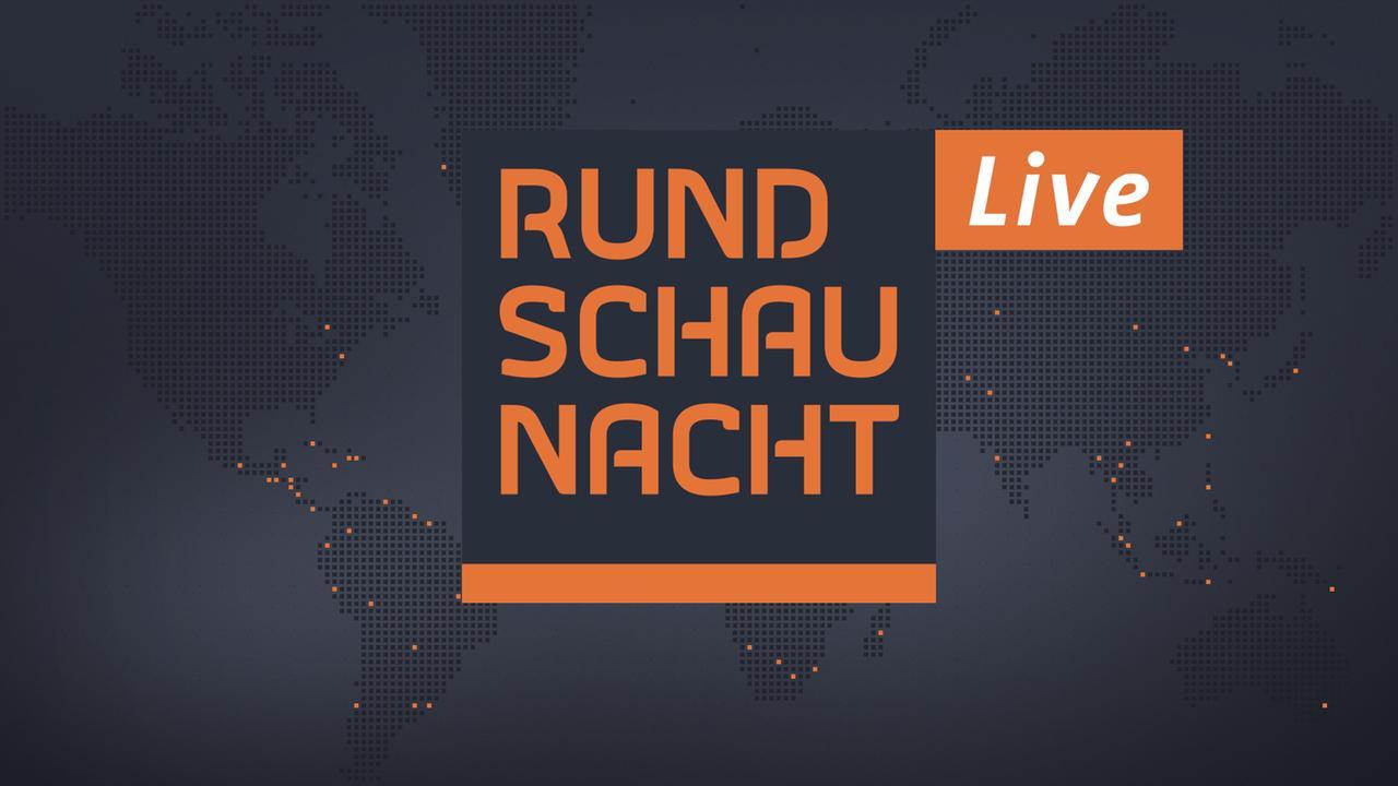 Rundschau-Nacht-Logo mit Live-Auszeichnung vor Weltkarte