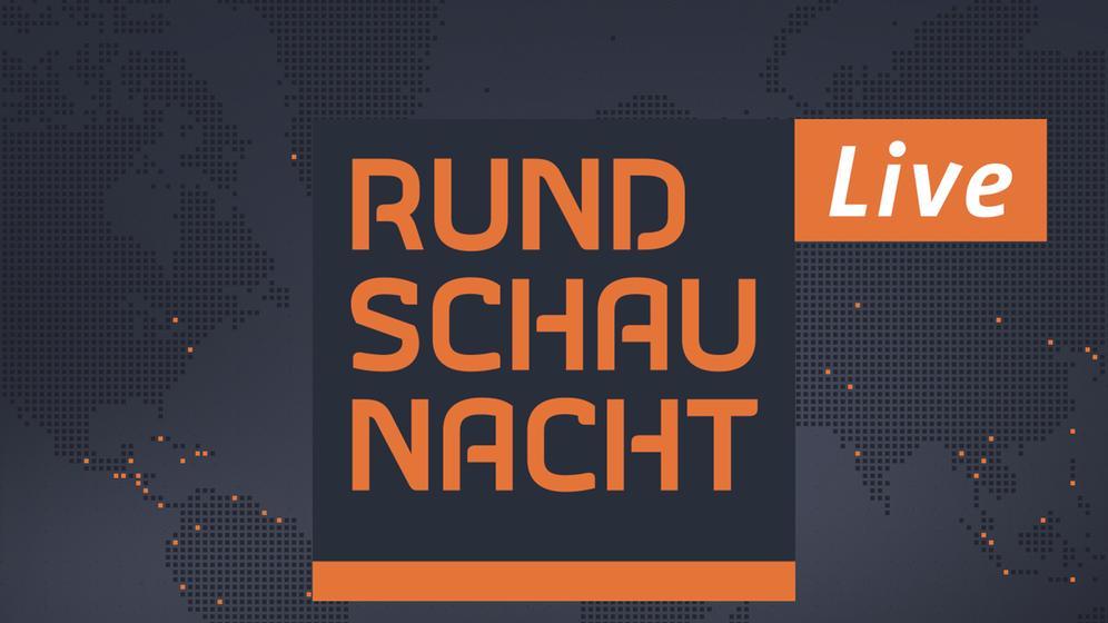 Rundschau-Nacht-Logo mit Live-Auszeichnung vor Weltkarte   Bild:BR