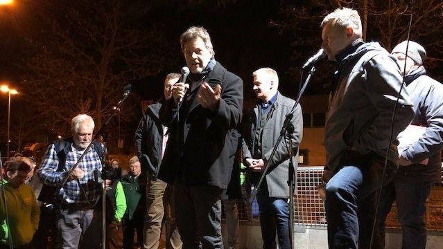 Grünen-Chef Robert Habeck in Aschaffenburg