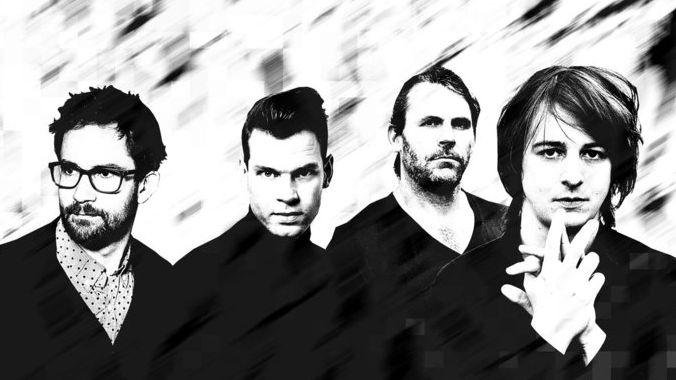 Von links nach rechts: Emile Parisien, Christian Lillinger, Tim Lefebrve & Michael Wollny